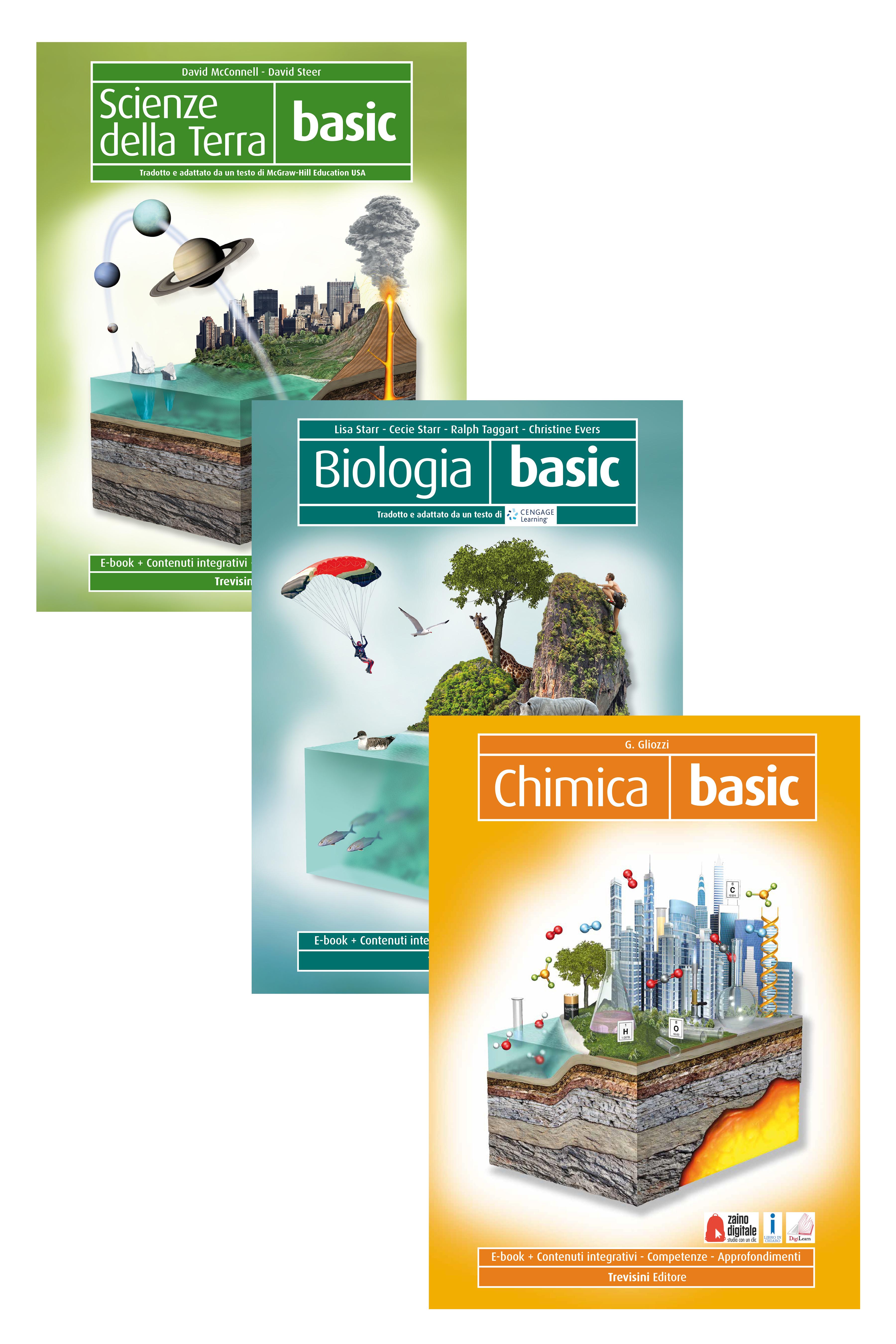 Scienze della terra basic + biologia basic + chimica basic